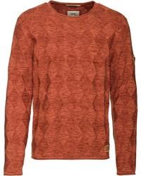 rotbrauner Pullover mit einem Rundhalsausschnitt von camel active