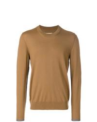 rotbrauner Pullover mit einem Rundhalsausschnitt von Maison Margiela