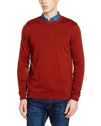 rotbrauner Pullover mit einem Rundhalsausschnitt von New Look