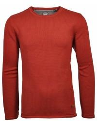 rotbrauner Pullover mit einem Rundhalsausschnitt von RAGMAN