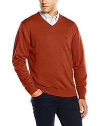 rotbrauner Pullover von Casamoda