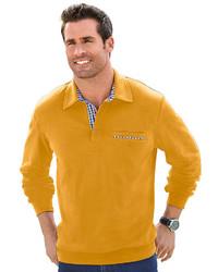 rotbrauner Wollpolo pullover von MARCO DONATI