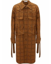 rotbraunes bedrucktes Langarmhemd von JW Anderson