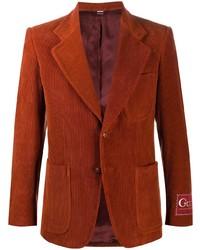 rotbraunes Cordsakko von Gucci