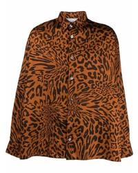 rotbraunes Langarmhemd mit Leopardenmuster von Études