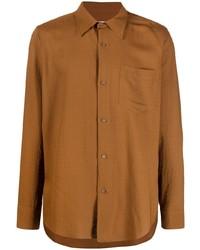 rotbraunes Langarmhemd von Ami Paris