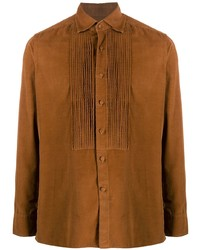 rotbraunes Langarmhemd von Tagliatore