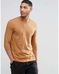rotbraunes T-Shirt mit einem Rundhalsausschnitt von Asos
