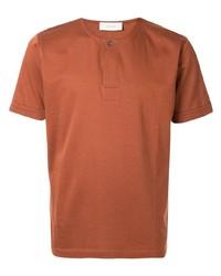 rotbraunes T-Shirt mit einem Rundhalsausschnitt von Cerruti 1881