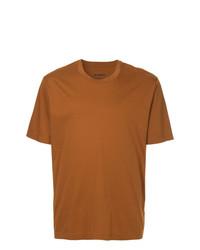 rotbraunes T-Shirt mit einem Rundhalsausschnitt von Jil Sander