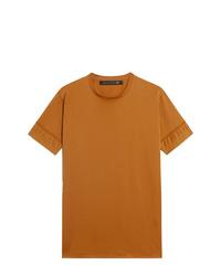 rotbraunes T-Shirt mit einem Rundhalsausschnitt von Mackintosh 0003