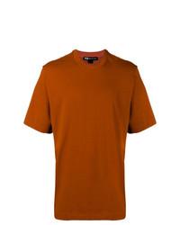 rotbraunes T-Shirt mit einem Rundhalsausschnitt von Y-3