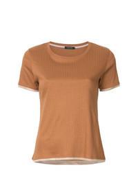 rotbraunes T-Shirt mit einem Rundhalsausschnitt