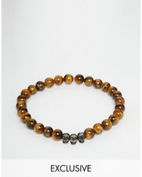 rotbraunes Perlen Armband