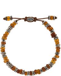 rotbraunes verziert mit Perlen Armband von M. Cohen