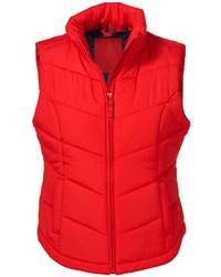 a6eb02a5ec28 rote ärmellose Jacke Rote ärmellose Jacke weißer und schwarzer horizontal  gestreifter Rollkragenpullover