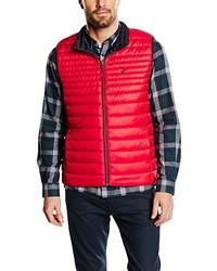 rote ärmellose Jacke von CALAMAR MENSWEAR