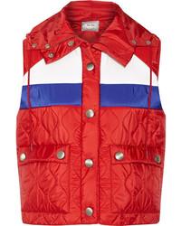 rote ärmellose Jacke von Miu Miu
