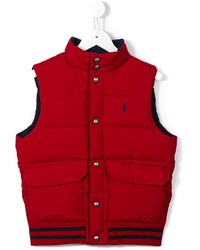 rote ärmellose Jacke von Ralph Lauren