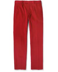 rote Anzughose aus Kord von Polo Ralph Lauren