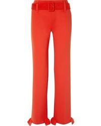 rote Anzughose mit Rüschen von Prada