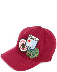 rote Baseballkappe von DSQUARED2