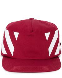 rote Baseballkappe von Off-White