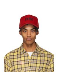 rote bedruckte Baseballkappe von Amiri