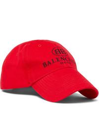rote bedruckte Baseballkappe von Balenciaga