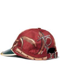 rote bedruckte Baseballkappe von Gucci