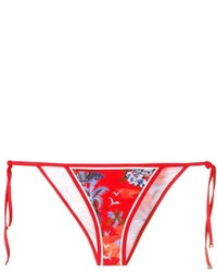 rote bedruckte Bikinihose von Dsquared2