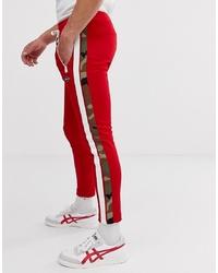 rote bedruckte Jogginghose von Replay