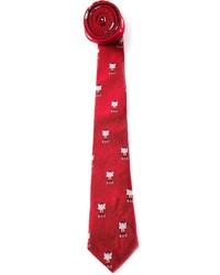 rote bedruckte Krawatte