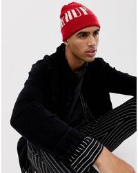 rote bedruckte Mütze von HUF