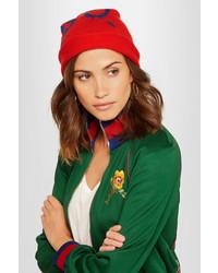 rote bedruckte Mütze von Gucci