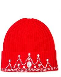 rote bedruckte Mütze von Markus Lupfer