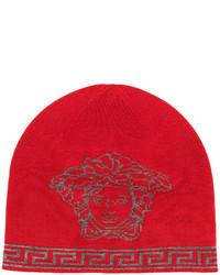 rote bedruckte Mütze von Versace