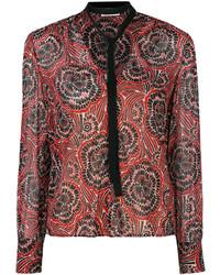 rote bedruckte Seide Bluse von RED Valentino