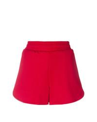 rote bedruckte Shorts von MSGM
