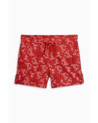 rote bedruckte Shorts von NEXT
