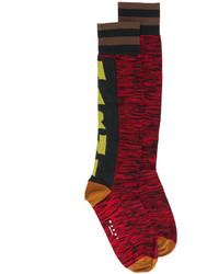 rote bedruckte Socken von Marni