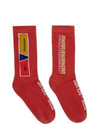rote bedruckte Socken von Reebok By Pyer Moss