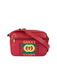 rote bedruckte Umhängetasche von Gucci