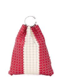 rote beschlagene Leder Beuteltasche von RED Valentino