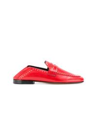 rote beschlagene Leder Slipper von Isabel Marant