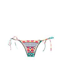 rote Bikinihose mit geometrischem Muster von Lygia & Nanny