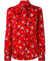 rote Bluse mit Blumenmuster von Marc Jacobs