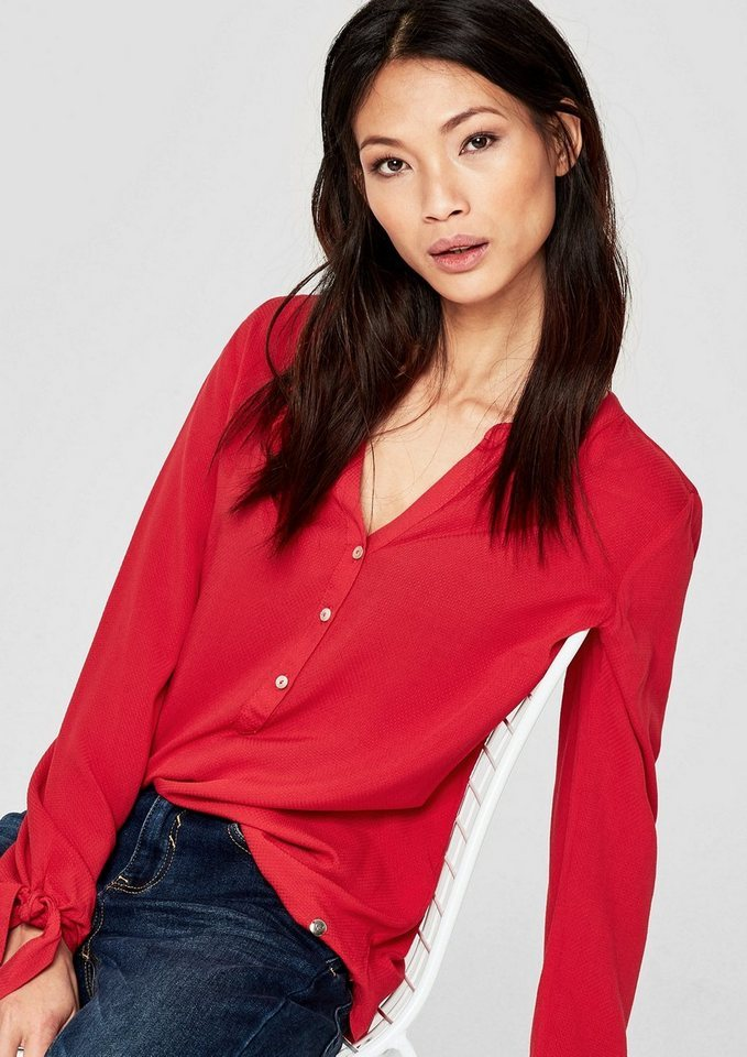 the best new products official supplier rote Bluse mit Knöpfen von S.OLIVER RED LABEL