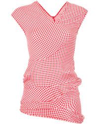 rote Bluse mit Vichy-Muster von Comme des Garcons