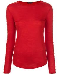 rote Bluse von Balmain
